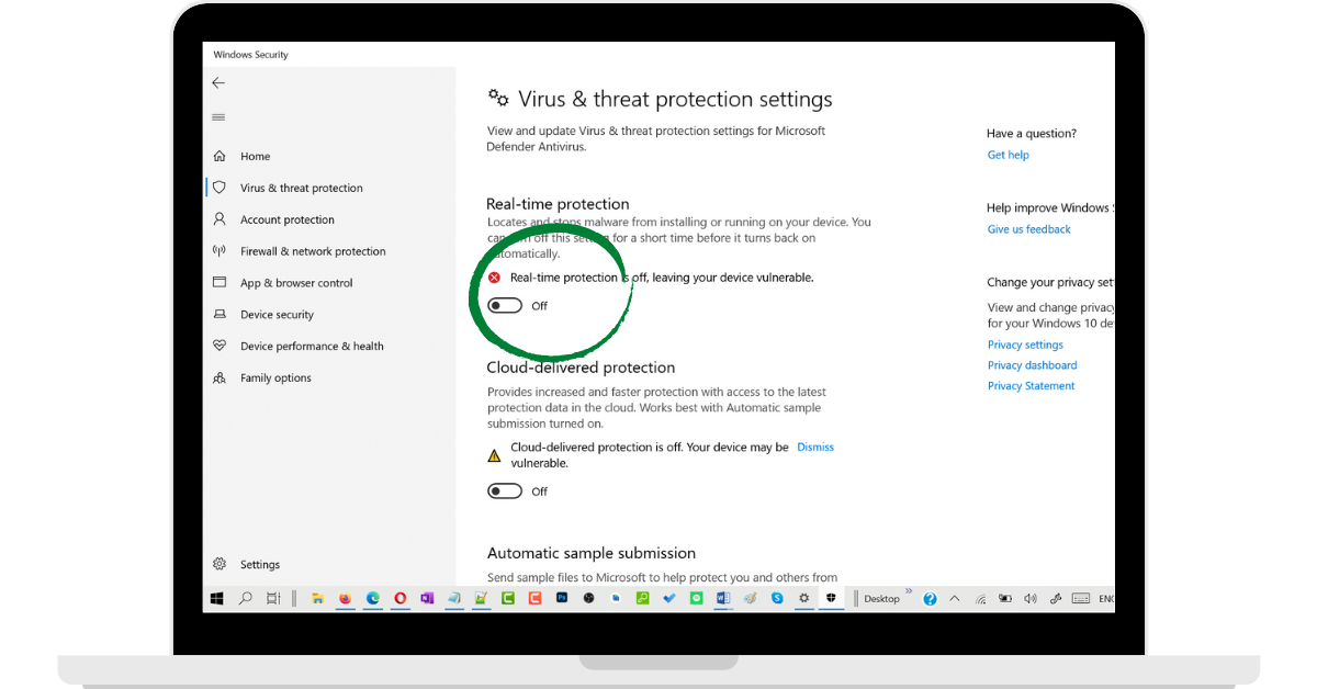 Windows-Real-Time-Protection-Turned-Off